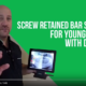 Screw retained bar solution for young person with denture
